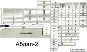 Схема кладбища Абдал-2